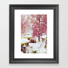 SNOW DAY - 015 Framed Art Print