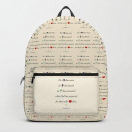 No Eye Has Seen Backpack
