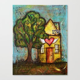 Me & My House Canvas Print