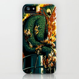 The burning of the bills monster iPhone Case