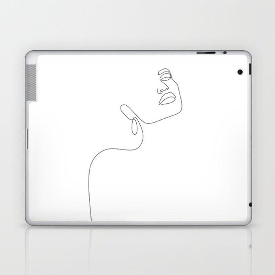 Dreamy Girl Laptop & iPad Skin