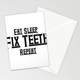 Fix teeth Dental Funny Stationery Cards