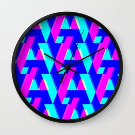 A/V + neon dots Wall Clock