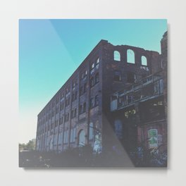 Abandoned Warehouse Metal Print