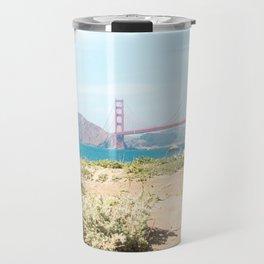 Golden Gate Bridge Beach Travel Mug