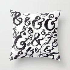Ampersands Throw Pillow