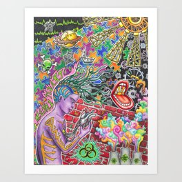 Kinetic Cybernetic Art Print
