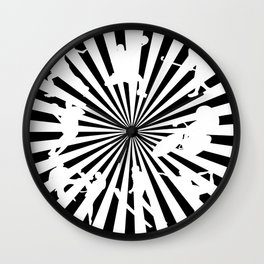 Sports figures in abstract background Wall Clock