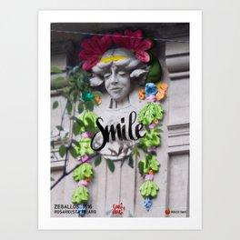 Smile - Cara Dura Proyect Art Print