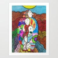 herencia  (inheritance) Art Print