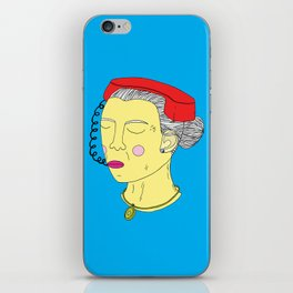Anxious Lady iPhone Skin