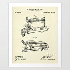 Sewing Machine-1885 Art Print