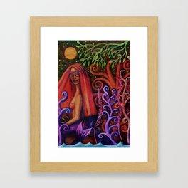 Mermaid La Cicciolona Framed Art Print