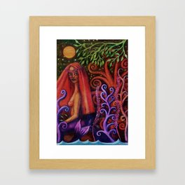 Mermaid La Cicciolona Framed Art Print