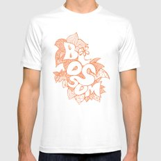 Blossom White Mens Fitted Tee MEDIUM