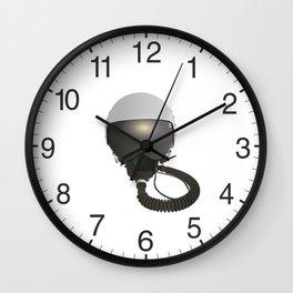Military Pilot Helmet Wall Clock