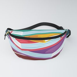 Books With A Colorful Background Fanny Pack