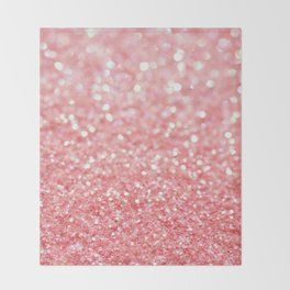 pink sparkle Throw Blanket