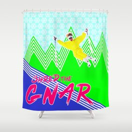 Shred the GNARski 03 Shower Curtain