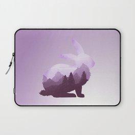 Rabbit Bunny Hare Double Exposure Surreal Wildlife Animal Laptop Sleeve