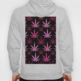 Marijuana Magenta Pink Weed Hoody