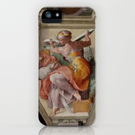 "Michelangelo ""The Libyan Sibyl"" iPhone Case"