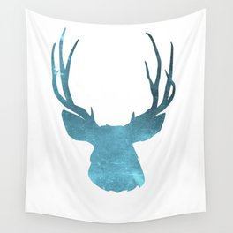 Deer head and stag simple illustration Wall Tapestry