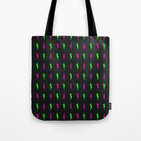 girls Tote Bags featuring Girls by Derek Eads
