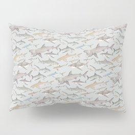 Watercolour shark pattern on pale blue Pillow Sham