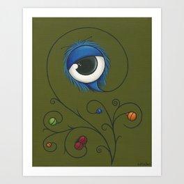 Fleur de Eye Art Print