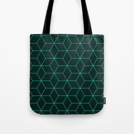 Cube Pattern 01 Green Tote Bag