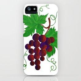 Purple Grapes on vine iPhone Case