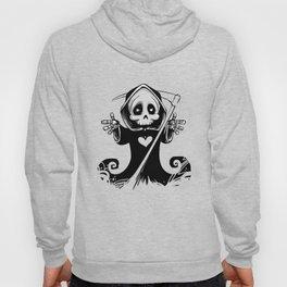 Cute Grim Reaper with Scythe Pointing - Free Hugs Version Hoody