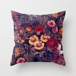 Midnight Garden IV Throw Pillow