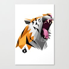 TML polygon tiger ROAR!!! Canvas Print