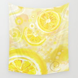 Lemons Wall Tapestry