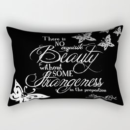 Strange Skullerflies - EA Poe Quote Rectangular Pillow