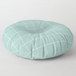 Small Grid Pattern - Light Blue Floor Pillow