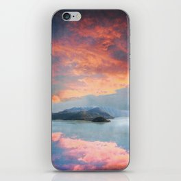 Sunset Over Lake Como Italy iPhone Skin