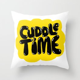 cuddle time Throw Pillow