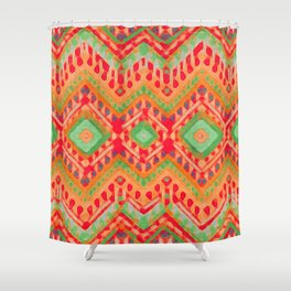 itzel - candy + lime Shower Curtain