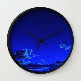 Azure Horizon Wall Clock