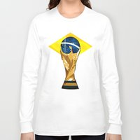 brazil Long Sleeve T-shirts featuring Brazil 2014 by The Vector Studio