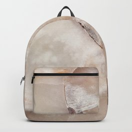White Quartz Abstract, Right Backpack
