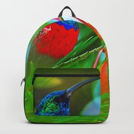Hummingbird with iridescent colours Backpack