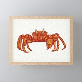 Crab Framed Mini Art Print