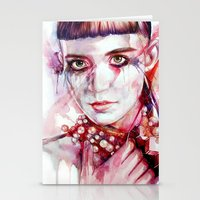 grimes Stationery Cards featuring grimes by beart24