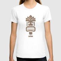 tiki T-shirts featuring Tiki 001 by Marco Recuero