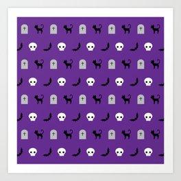 Halloween Pattern 2 Art Print