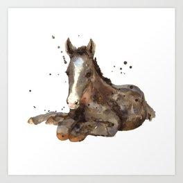 Horse painting, watercolor horse, horses Art Print